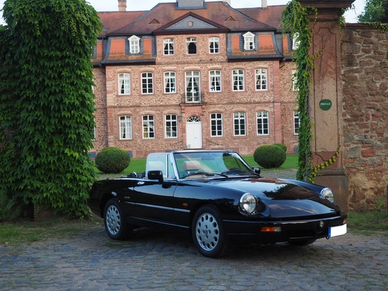 Alfa Spider Serie 4 - ein Traum in schwarz