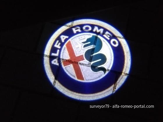 Alfa-Logo-Projektion