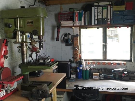 Linke Werkstatt Seite mit Blick auf den Garten